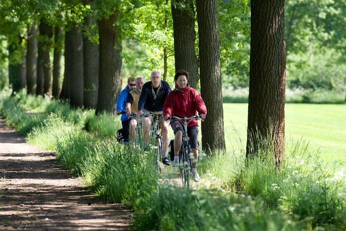 Veel toeristen komen graag naar de Achterhoek om te fietsen of te wandelen.