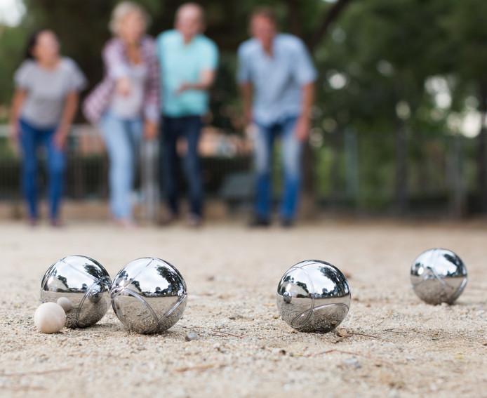 Petanque, of jeu de boules. Ook een populair tijdverdrijf op campings.