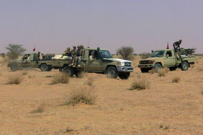 Leden van de separatistische rebellengroep MNLA in de woestijn nabij Tabankort in Mali. Archiefbeeld.