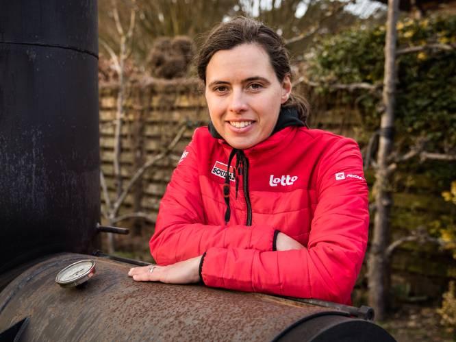 """ANNO 2021. Belgisch kampioene wielrennen 2018 Annelies Dom (34): """"In de Omloop had ik nog hartzeer dat ik niet meer op de fiets zat"""""""