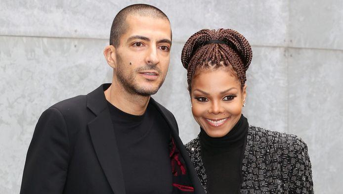 Janet Jackson met man Wissam al Mana in Milaan vorige week.