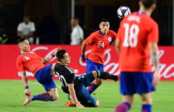 Lo Celso met Argentinië tegen Chili.