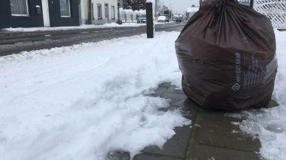 Geen vuilnisophaling door de sneeuw