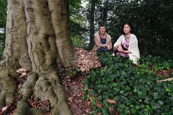 Thea van Dijk (links) en Joyce Beckker van de stichting willen op verschillende plekken een monument plaatsen voor ongeboren en doodgeboren kinderen.