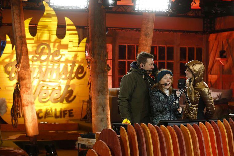 Bram Willems, Linde Merckpoel and Eva De Roo bij de start van de twaalfde editie van Music For Life. Beeld BELGA