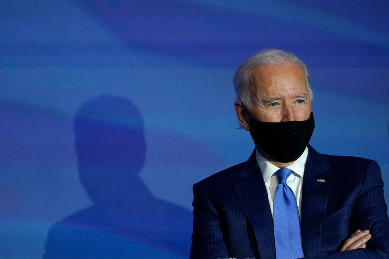 Joe Biden is nog niet van de spanning verlost. Beeld AP