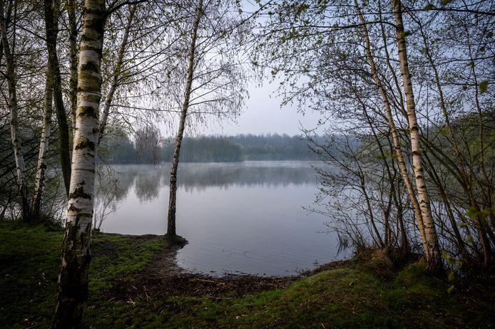 De waterplas op het landgoed van Van Eerd.