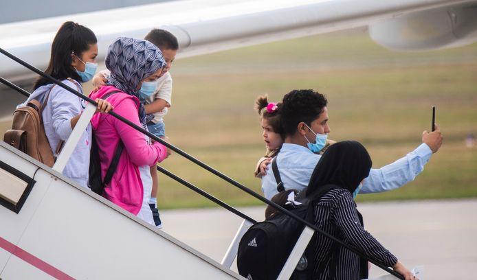 Duitsland heeft al enkele vluchtelingen uit Moria overgenomen. Op 30 september arriveerde een vliegtuig op het vliegveld van Hannover.