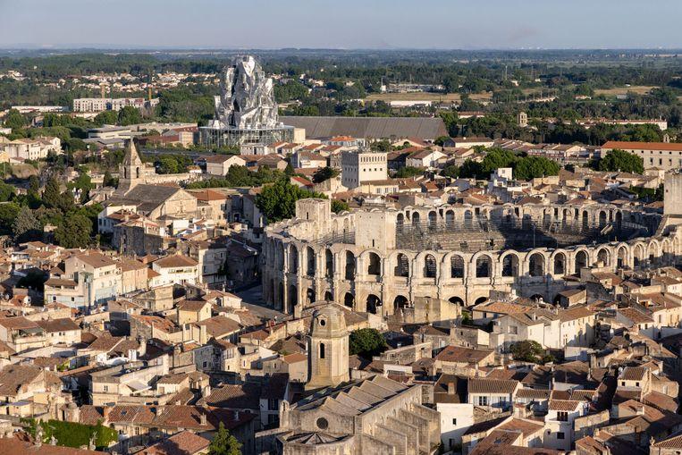 het nieuwe museum-gebouw van Frank Gehry in Arles. Beeld Iwan Baan