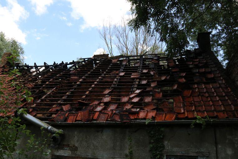 De woning is volledig vernield.