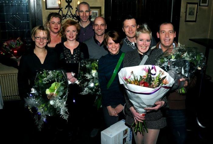 De winnaars van de verschillende prijzen die vrijdagavond uitgereikt werden.