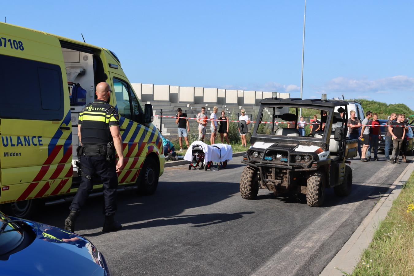 De buggy op de Grote Bosweg in Barneveld, waarmee een 16-jarige jongen werd aangereden door een leeftijdsgenoot. Hij raakte zwaargewond.