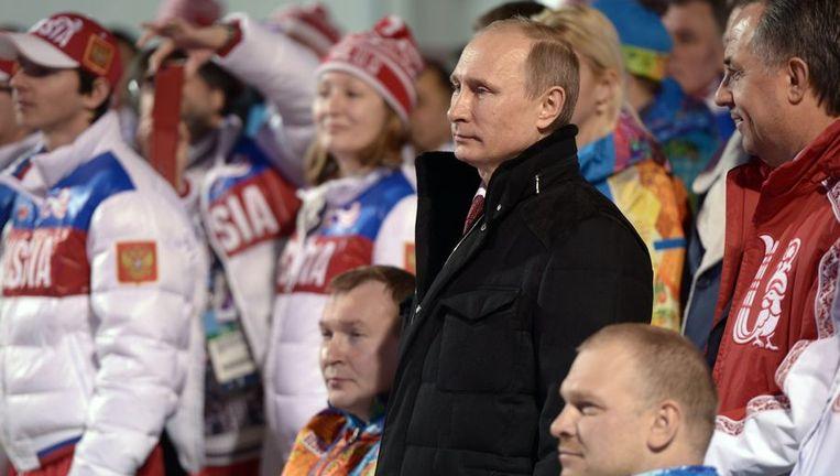 De Russische president Vladimir Poetin mag tevreden zijn over de Paralympics Beeld ANP