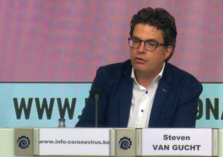 Viroloog Steven Van Gucht van Sciensano. Beeld Sciensano
