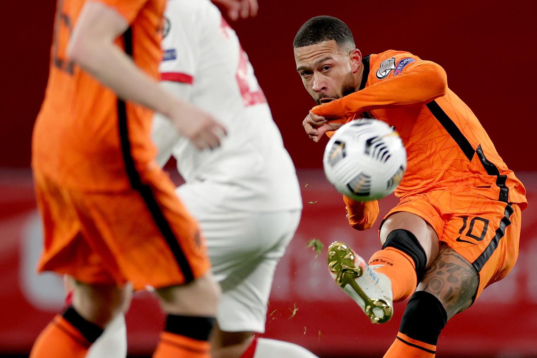 De doelpunten en assists van Memphis Depay zijn onmisbaar voor Oranje.  Beeld Getty Images