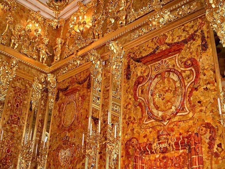 De Amberkamer werd eind vorige eeuw gereconstrueerd. Beeld Wikipedia