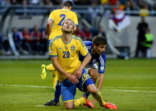 Ola Toivonen als Zweeds international.