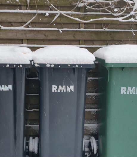 Ook het vuilnis blijft nog even binnen binnen door de sneeuw