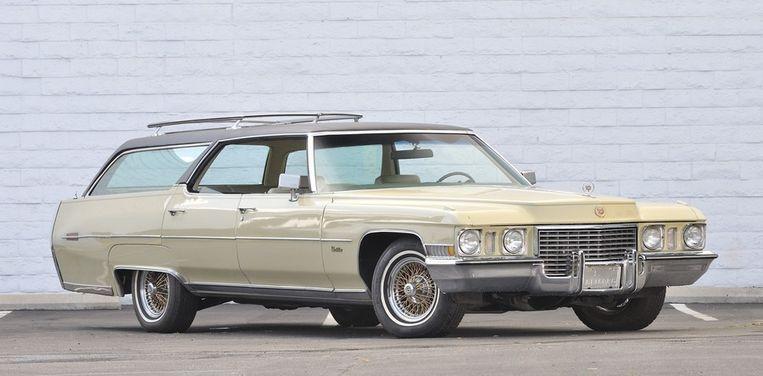 Elvis Presleys uit 1972 daterende Cadillac Custom Estate Wagon. Beeld AP