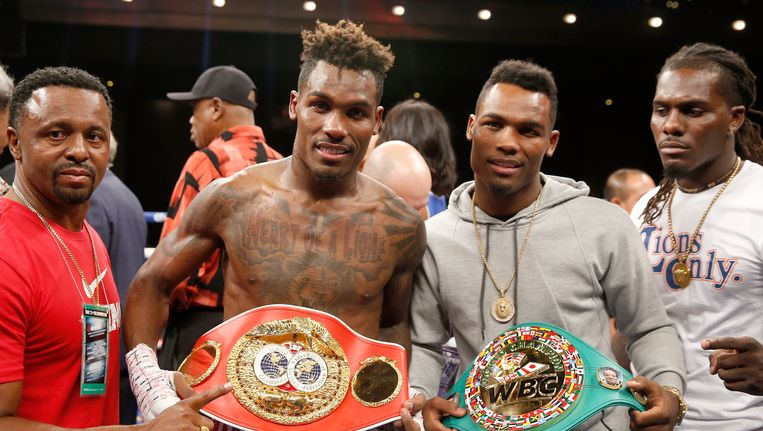 Jermall Charlo (links) en Jermell Charlo. Beeld Getty Images