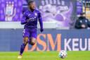 Amuzu in actie tegen Club Brugge