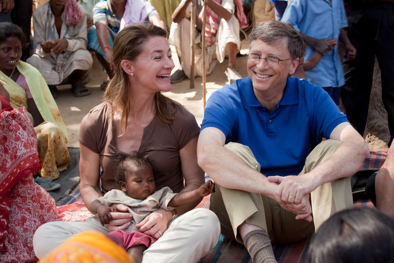 Melinda en Bill Gates in India.
