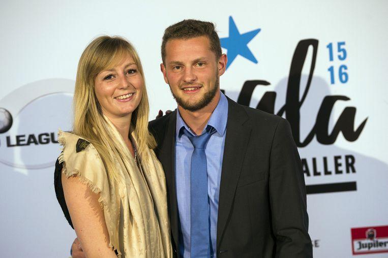 Mats Rits en zijn vriendin Lynn.