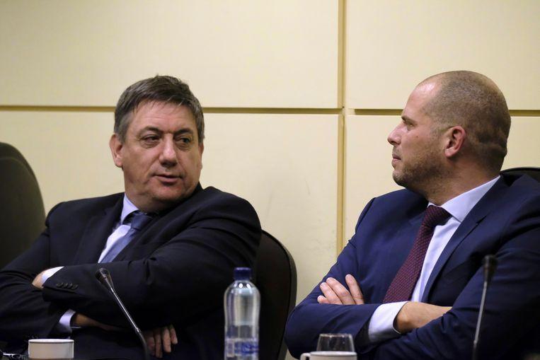Minister van Binnenlandse Zaken Jan Jambon en staatssecretaris voor Asiel en Migratie Theo Francken.
