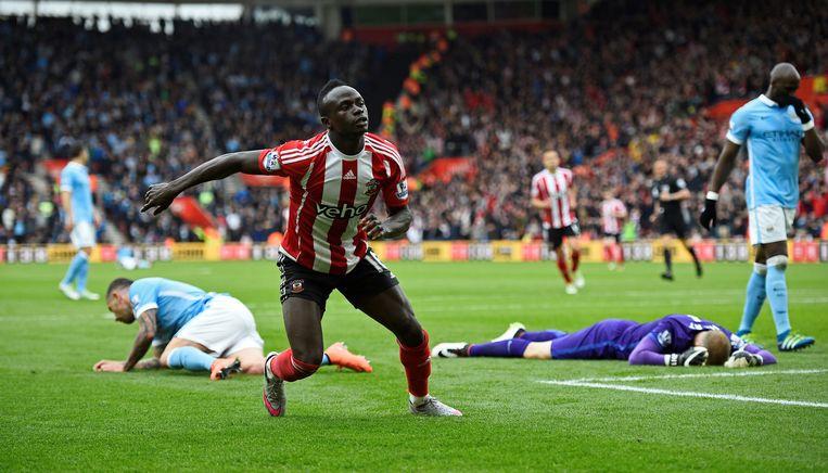 Sadio Mané scoorde driemaal voor Southampton. Beeld reuters
