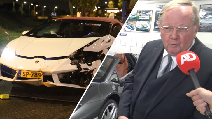 Verhuurder van gecrashte Lamborghini doet zijn verhaal