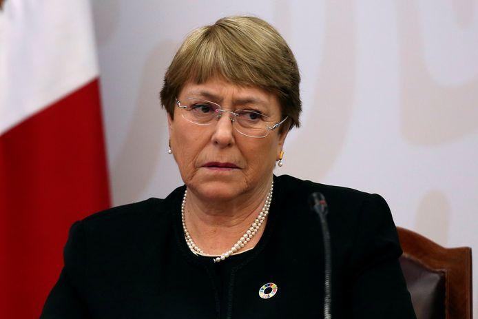Hoge Commissaris voor de Mensenrechten van de VN, Michelle Bachelet, op archiefbeeld.