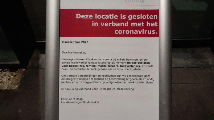 Het woonzorgcentrum in Goirle is sinds dinsdag gesloten.