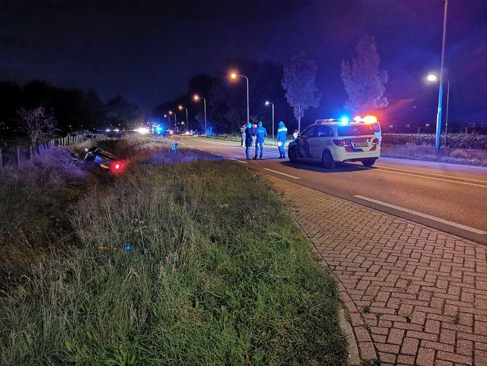 Ongeluk op de Cuneraweg in Rhenen.