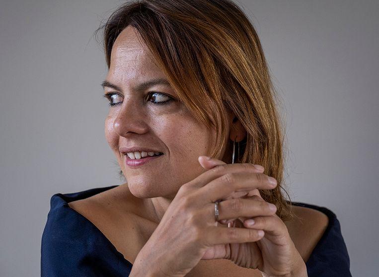 Vera Spaans: 'In de diplomatie is te laat komen een manier om piketpaaltjes te slaan.' Beeld Patrick Post