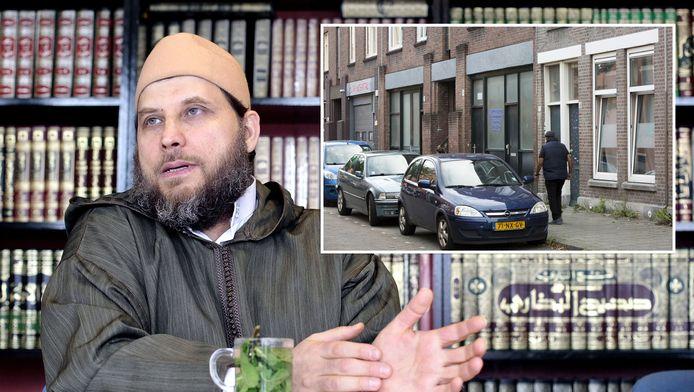 Imam Fawaz preekte afgelopen zomer in een clandestiene moskee in de Cillierstraat.
