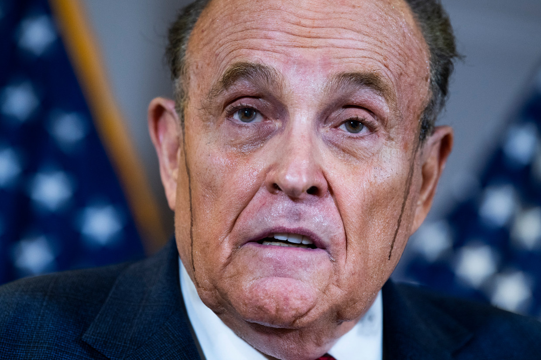 Trump-protegé Rudolph Giuliani mag voorlopig niet optreden als advocaat vanwege 'valse en misleidende' beweringen.  Beeld CQ-Roll Call, Inc via Getty Imag
