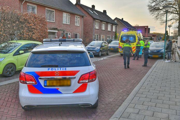 Politie doet onderzoek naar het ongeval in Heeze