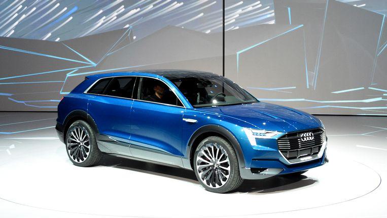 De Audi e-tron quattro, het conceptmodel achter de Q6, werd in september voorgesteld in Frankfurt. Beeld AP