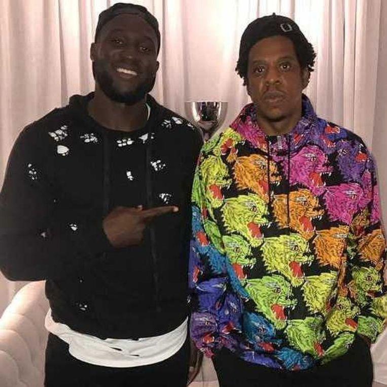 Romelu Lukaku en Jay-Z. Beeld RV