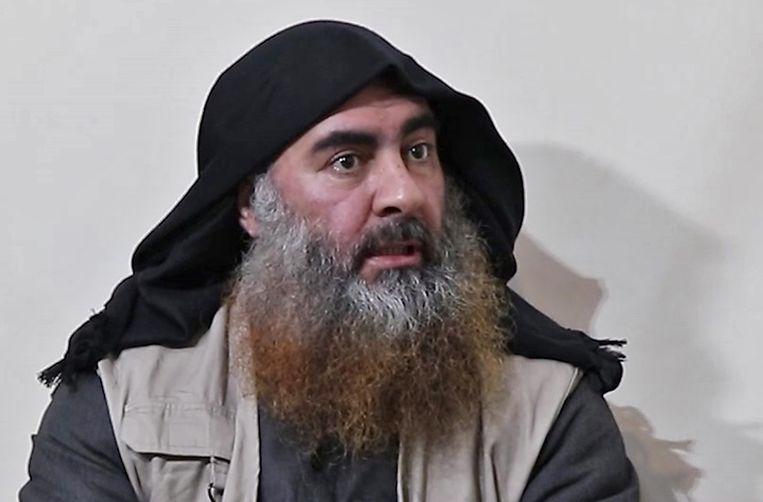 Pas in april van dit jaar dook een nieuwe video op van Al-Baghdadi. Beeld AFP