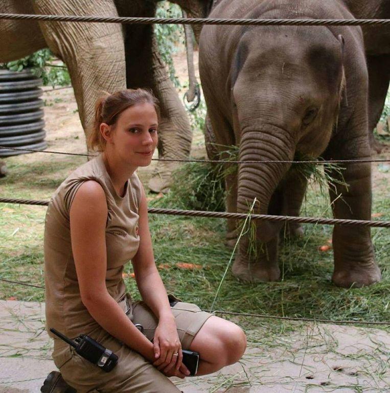 Veronique is dierenverzorgster/olifantenverzorgster in Planckendael.