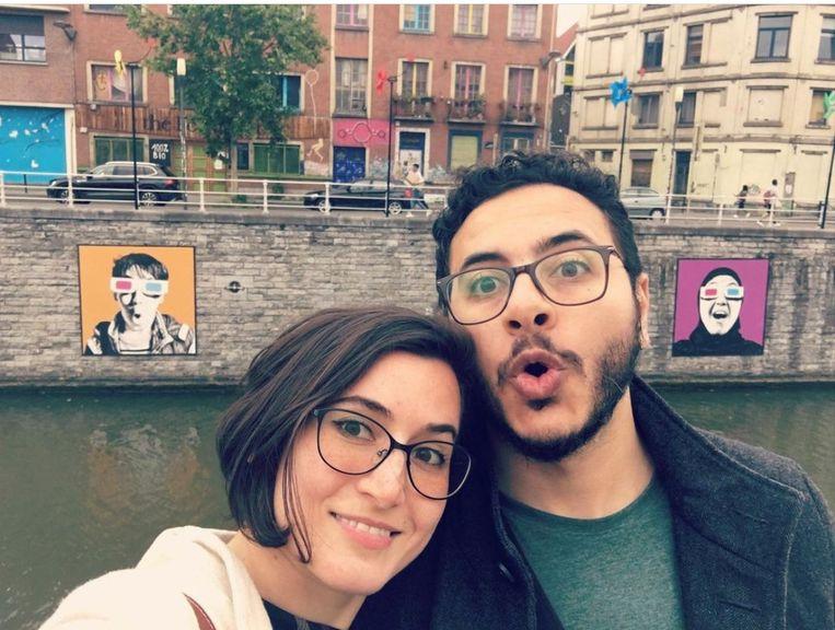 In Egypte is student Ahmed Samir Santawy (29), vriend van de Gentse Souheila Yildiz (31), veroordeeld tot een celstraf van vier jaar wegens het 'verspreiden van fake news' en 'deelname aan een terroristische groep'. Beeld rv