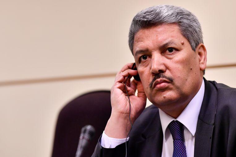Uittredend voorzitter Salah Echallaoui. Beeld BELGA