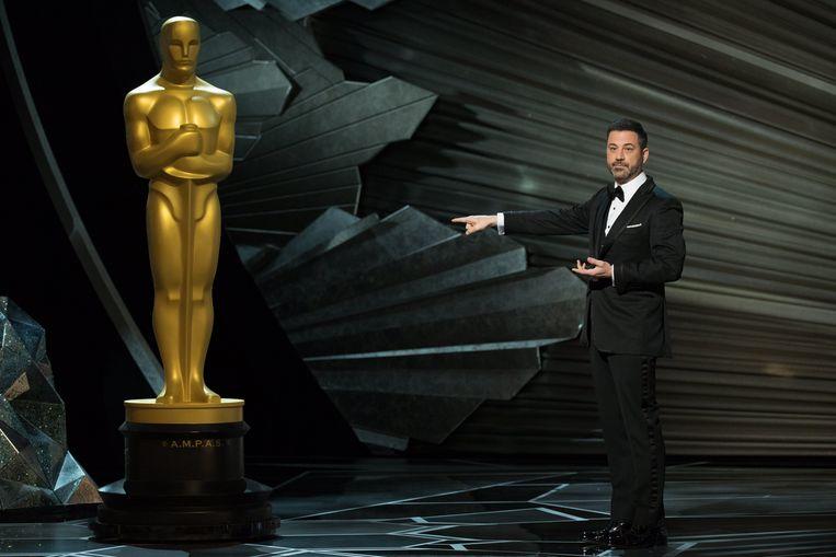 Jimmy Kimmel bij de 90ste Oscar-uitreiking, vorig jaar  Beeld EPA