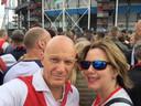 Wethouder Bert Wijbenga, hier op archiefbeeld van voor corona-tijd. Hij en zijn vrouw, minister Cora van Nieuwenhuizen, zijn fervente Feyenoord-fans.