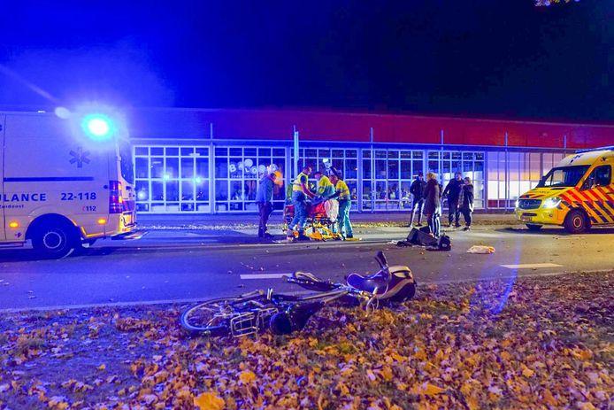 Fietser zwaargewond door ongeval in Veldhoven.