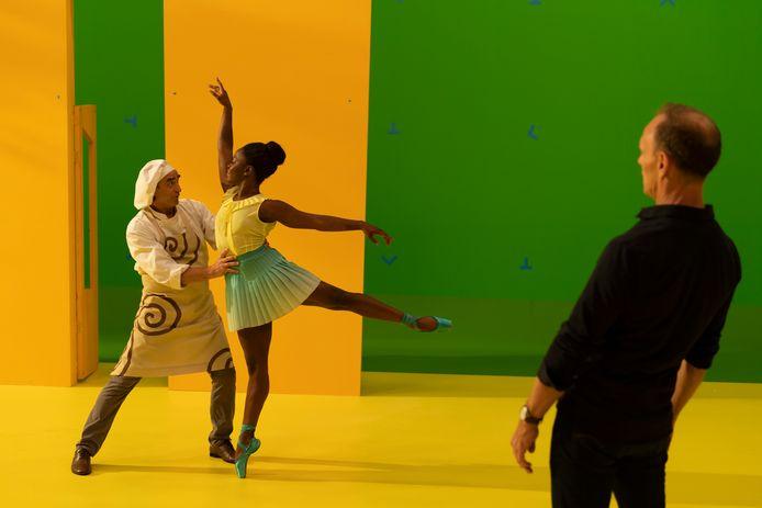 Irek Mukhamedov, Michaela DePrince en choreograaf Ted Brandsen in Coppelia