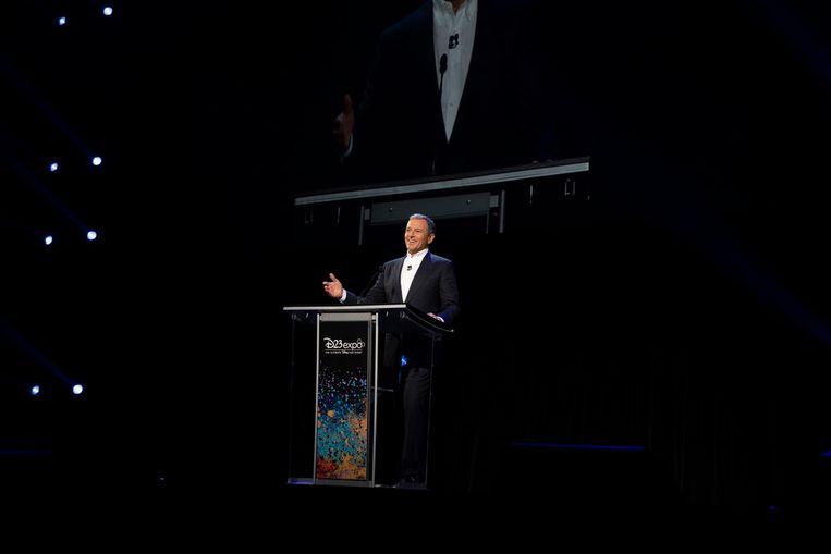 Disney-baas Bob Iger tijdens de openingsceremonie van D23 Expo, een grootse fanbeurs van The Walt Disney Company in Anaheim. Beeld The Walt Disney Company