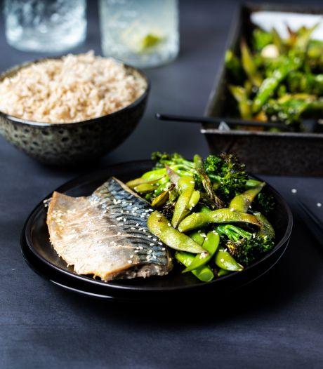 Wat Eten We Vandaag: Traybake met makreel en groene groenten