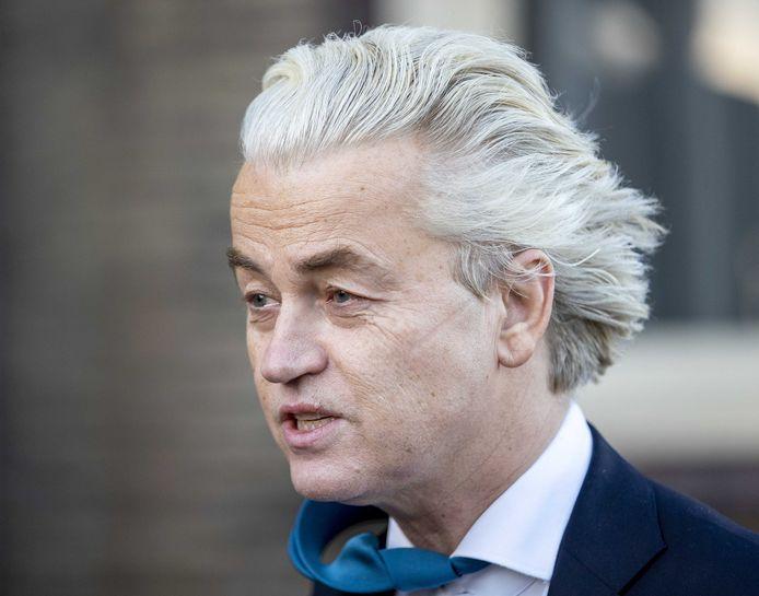 Geert Wilders (PVV) tijdens de campagne.